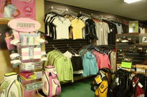 Golf Shirts Hanging in the Pro Store