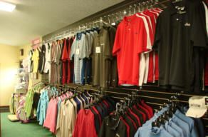 Golf Shirts Hanging in the Store
