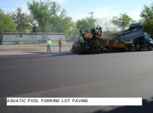 Aquatic Pool Parking Lot Paving